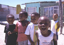 Township children smile for the camera